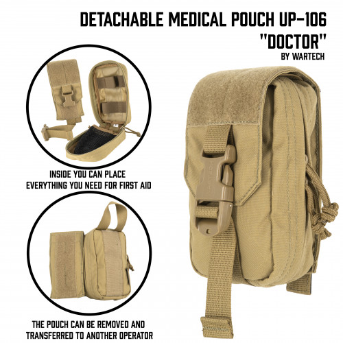 "Detachable Medical Pouch ""AIM"" UP-106"